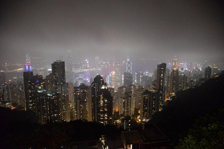 香港旅遊推薦|夜色,太平山頂鳥瞰百萬夜景!
