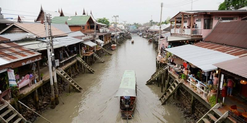 泰國一日遊行程|安葩洼水上市場吃喝玩樂 來到當地就入境隨俗吧!