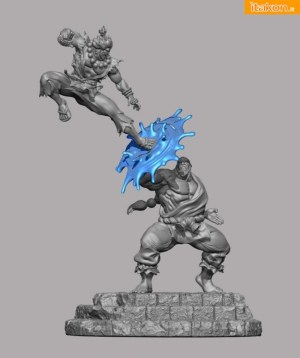 Akuma Vs Gouken Diorama da Pop Culture Shock - Anteprima