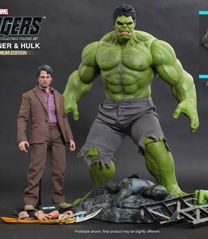Hot Toys: Bruce Banner e Hulk Figures Set 03