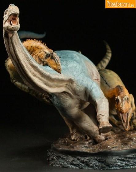 Dinosauria: Allosaurus vs Camarasaurus Statue - Immagini Ufficiali e Info Preordini