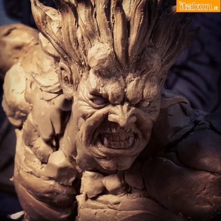 Kinetiquettes: I primi WIP della statua di Oni 1/6