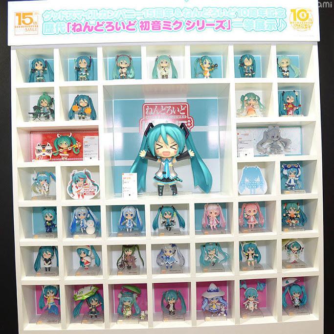 I vari Nendoroid prodotti in celebrazione di Miku Hatsune