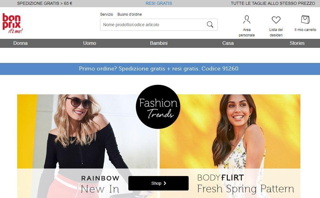 Siti abbigliamento online economici: Bonprix