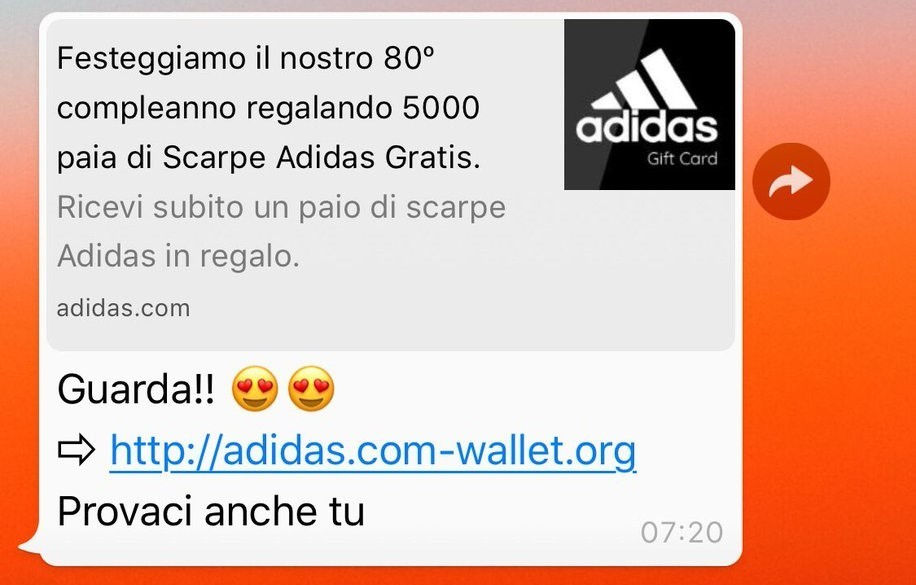 Screenshot phishing Whatsapp