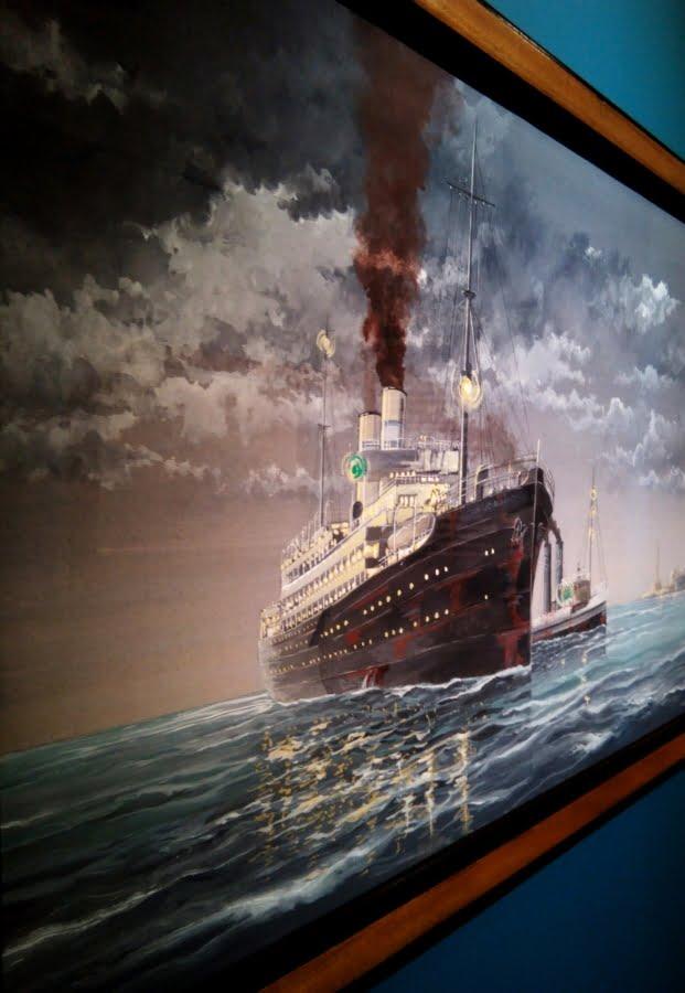 Museo del Mare di Genova interno - quadro a soggetto navale