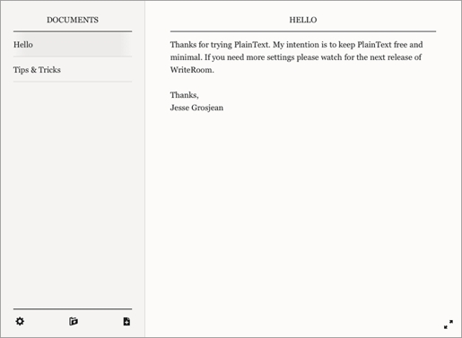 plaintext1 PlainText, un editor di note minimalista per iPad e iPhone con supporto a Dropbox