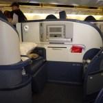 ロサンゼルス空港から成田空港までのビジネスクラスの旅