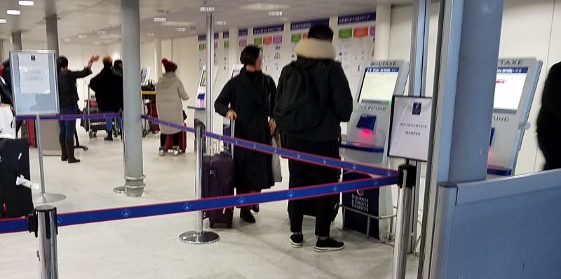 パリのシャルル・ド・ゴール空港(CDG)にあるパブロ(Pablo)端末