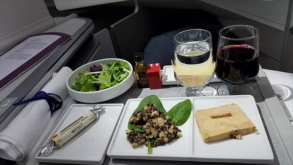 エールフランスのビジネスクラスの豪華機内食