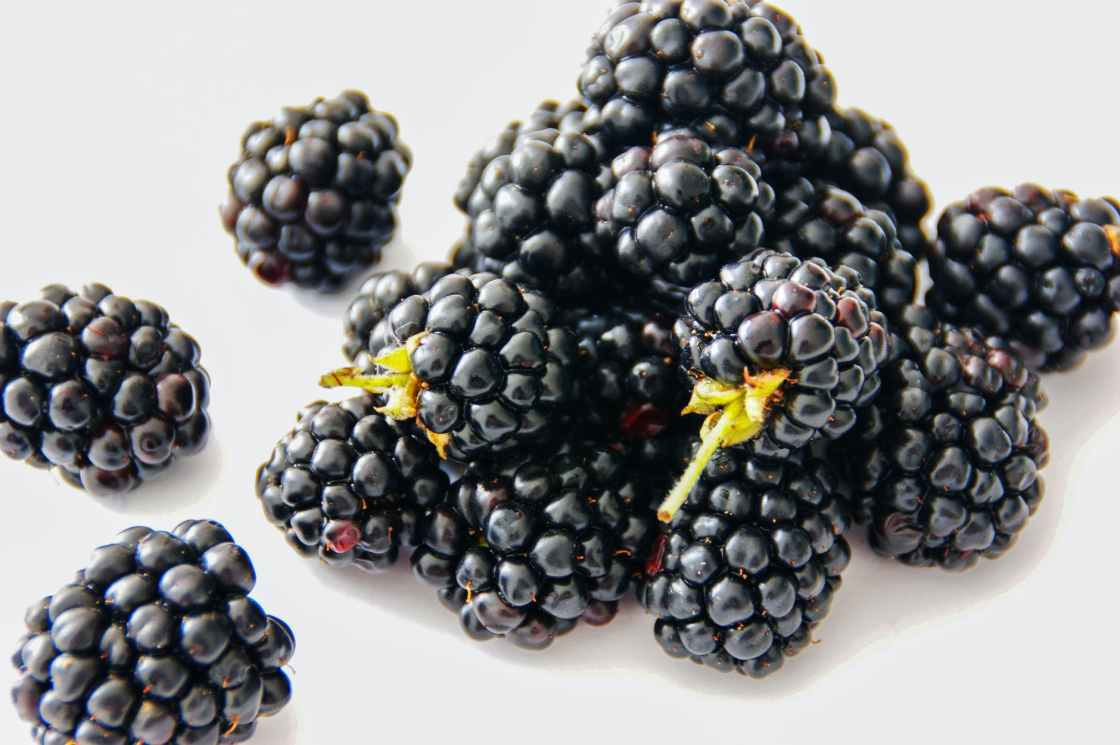 blackberries on table