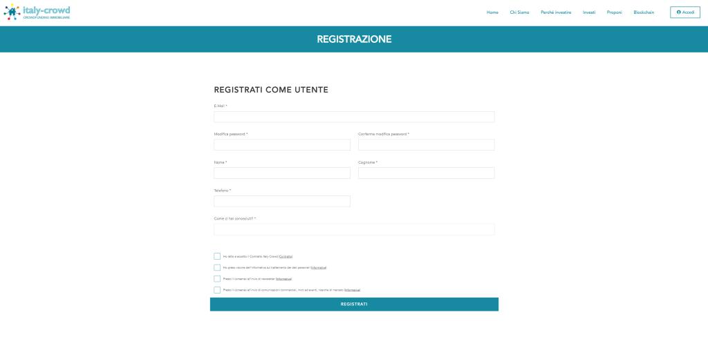 Italy-Crowd Registrazione