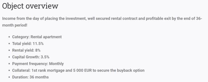 Reinvest24 rental apartment
