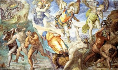"""Matteo da Lecce, """"Disputa del corpo di Mosè"""""""