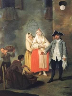"Pietro Longhi, ""Venditrice di frittelle"" (1757)."