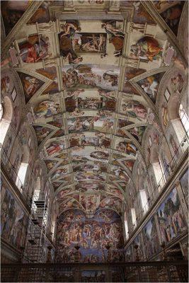 Сикстинская капелла. Роспись плафона. Рим, Ватикан.1508-1512 гг.
