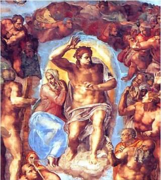 Страшный Суд. Фрагмент фрески.
