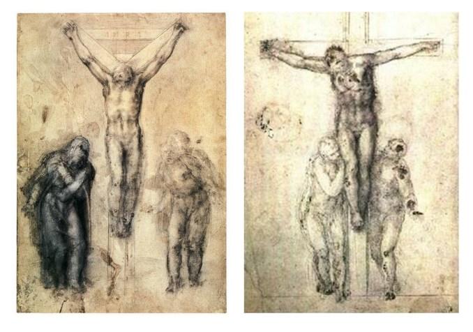 """Два """"Распятия"""". Лондон, Британский музей. 1550-1556."""
