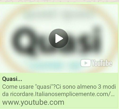 Quasi avverbio lingua italiana