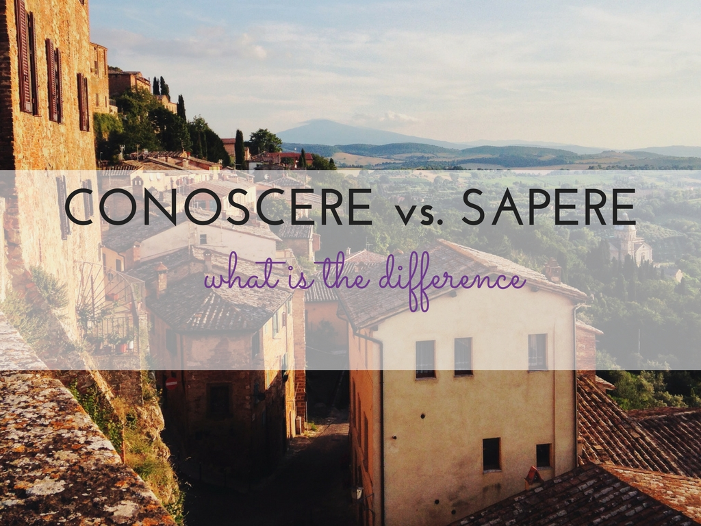 Sapere Vs Conoscere What Is The Difference