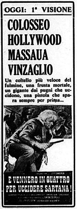[Western] In quattro per uccidere Sartana! (1969)