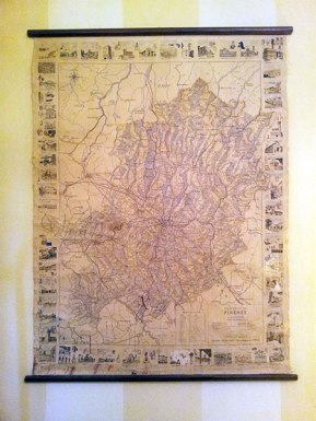 Vintage school map of Florence and surrounding area