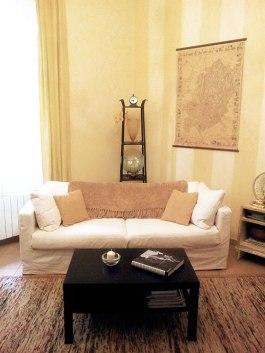 Sofa on an angle