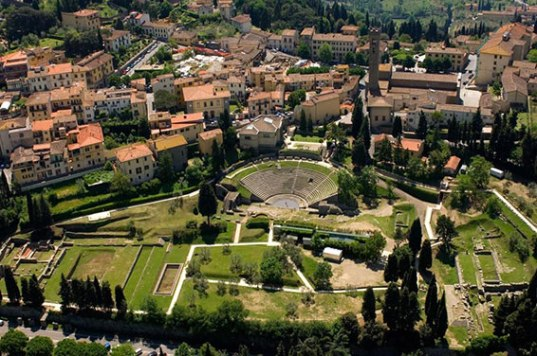 Fiesole - view of archeological area