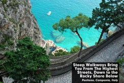Road to the sea, Positano Italy