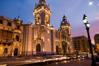 catedral on plaza de armas mayor lima peru