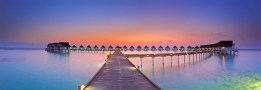Maldives sunset panorama