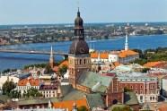 Riga Panorama city view