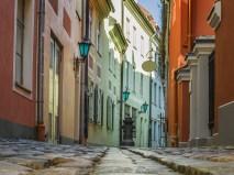 Narrow medieval street in Riga
