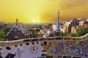 Park Guell. Barcelona landmark, Spain.