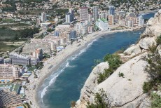 Coastline of Mediterranean Resort Calpe, Spain with Sea and Lake