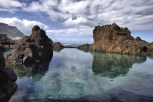Natural lava-rock pools in Porto Moniz, Madeira, Portugal