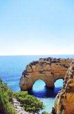Rocks formation in Marinha beach, Algarve, Portugal