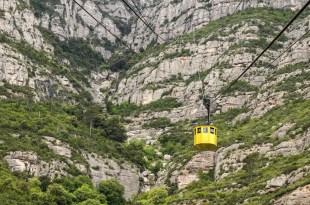 Cabin of 'Montserrat Aeri' (cableway), Catalonia, Spain.