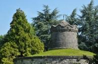 Detail of citadel in Dinant, Wallonie, Belgium