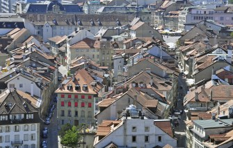 Panorama of Fribourg roofs