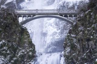 Multnomah Falls Frozen