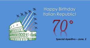 Special Aperitivo for Italian Republic day: June 2, Free House, 6:30 PM