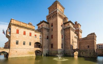 old Estense Castle in Ferrara in Italy