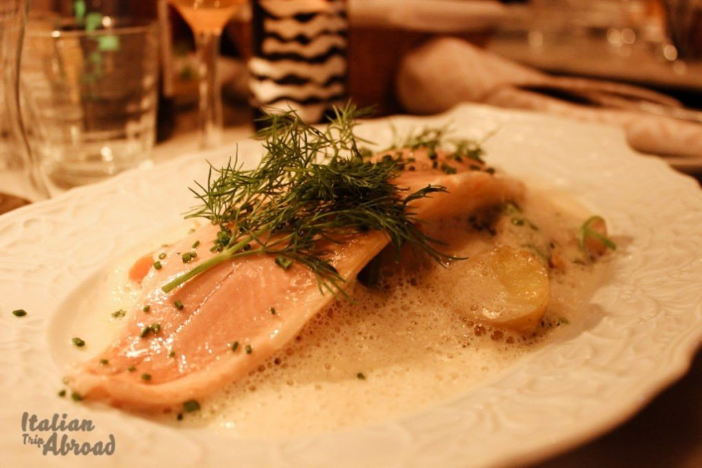 Salmon dishes in Stockholm
