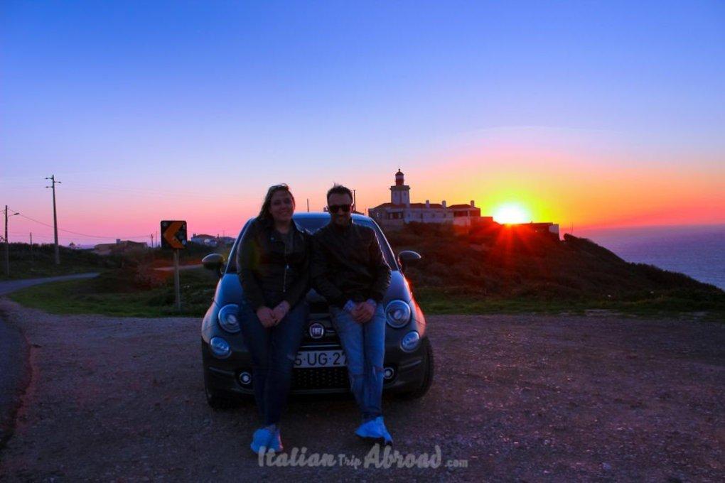 Italian trip abroad at Cabo da Roca