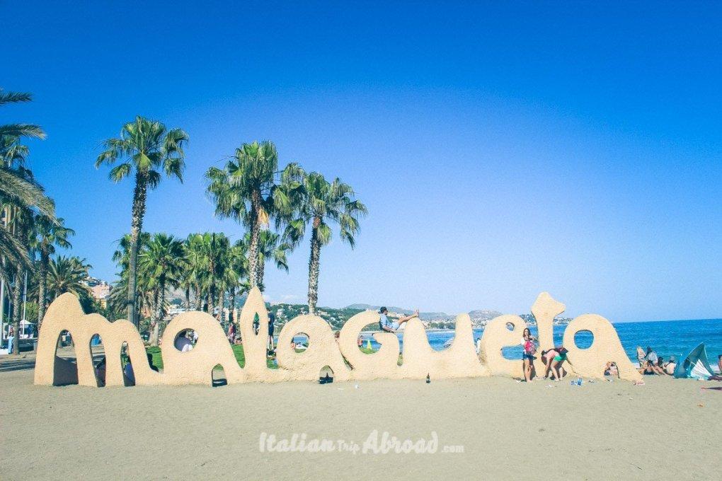 Playa la malagueta - Spain Best beaches in Malaga - Southern Spain - Costa del Sol