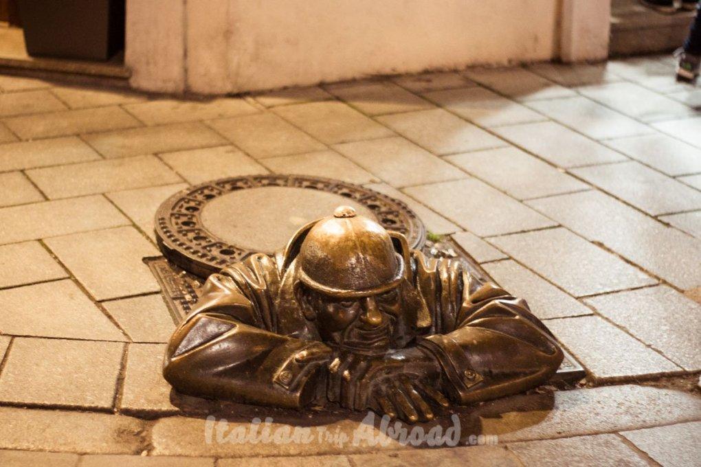 Manhole in Bratislava - Sight of Bratislava in one day