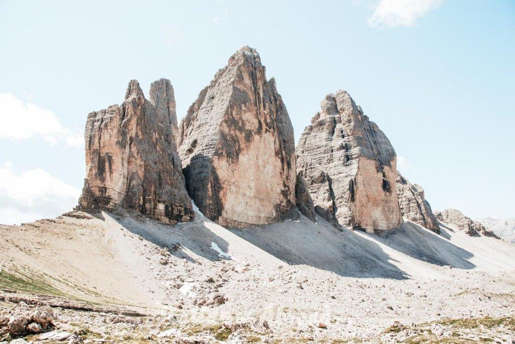 Mountain Trentino Three Peaks Of Lavaredo Sky Italy