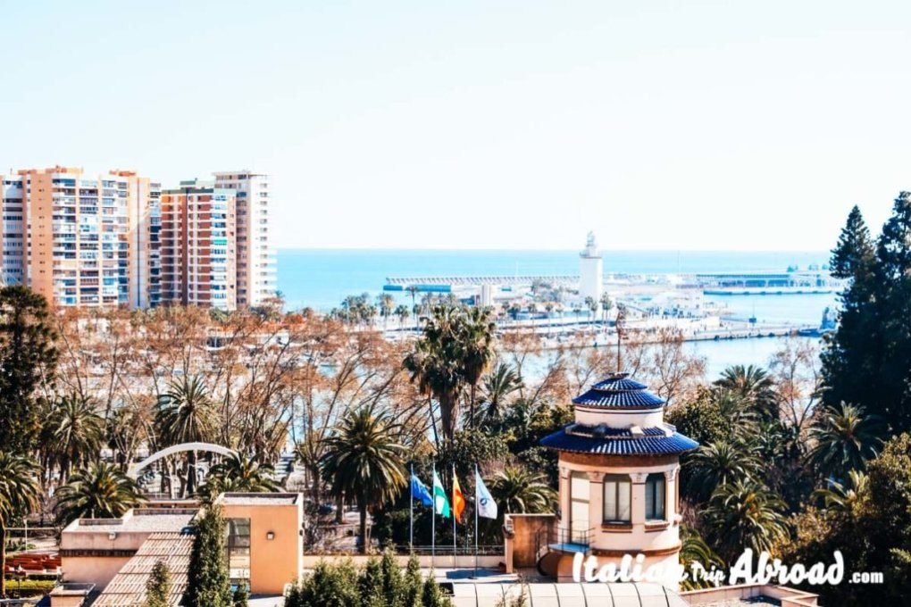Malaga from the top of the Alcazaba - Road Trip to Spain - Off the beaten Path