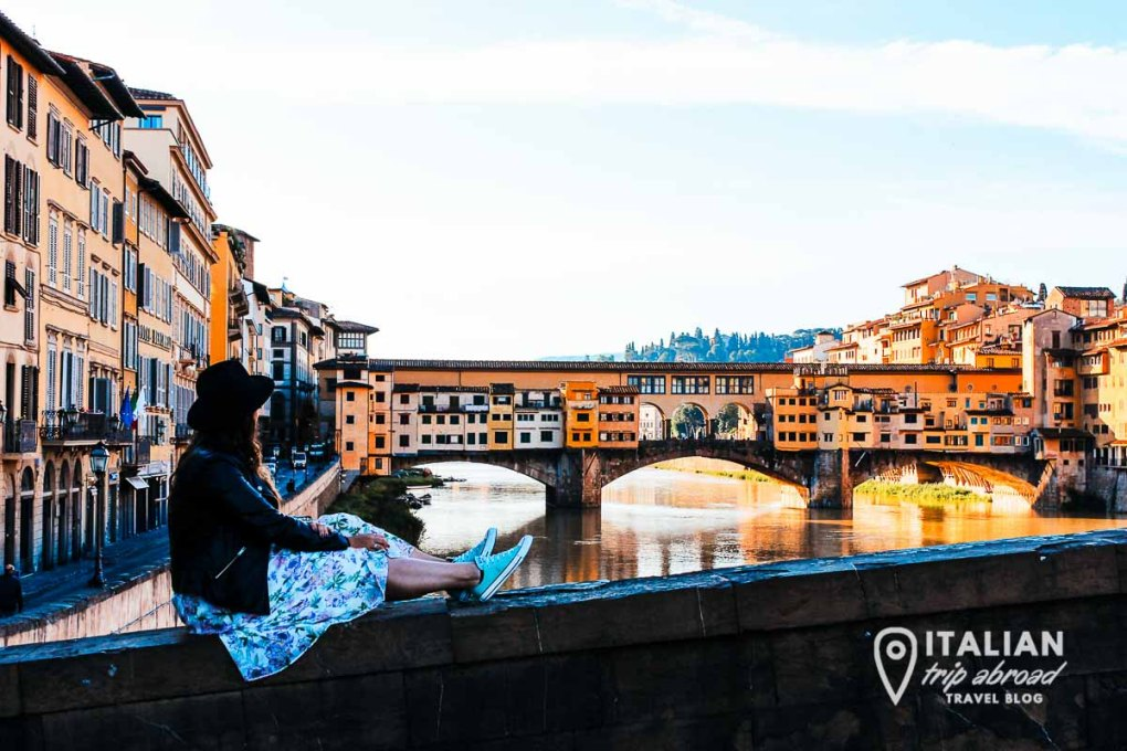 View on Ponte Vecchio - Old Bridge of Florence Italy - Best photo spots in Florence